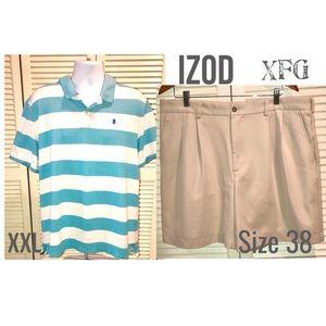 IZOD Polo and XFG  Golf Shorts XXL/38